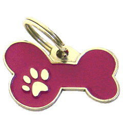 BONE MJAVHOV PURPLE - pet ID tag, dog ID tags, pet tags, personalized pet tags MjavHov - engraved pet tags online